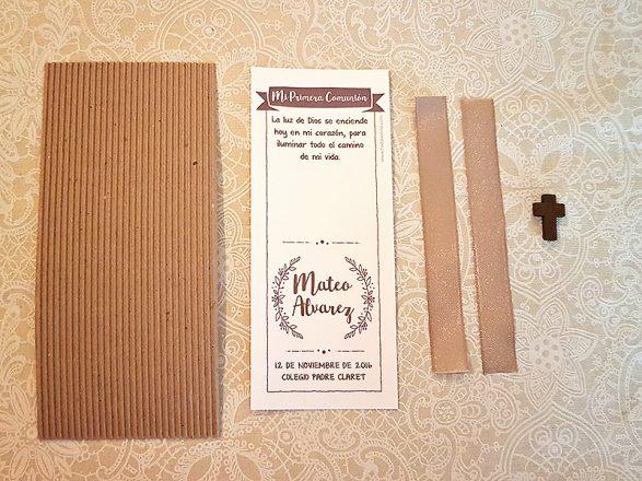 Materiales para hacer tarjetas con cintas