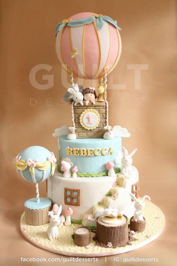 Las tortas más lindas de globos aerostáticos
