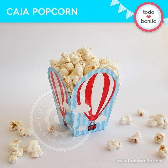 Caja popcorn de globos aerostáticos