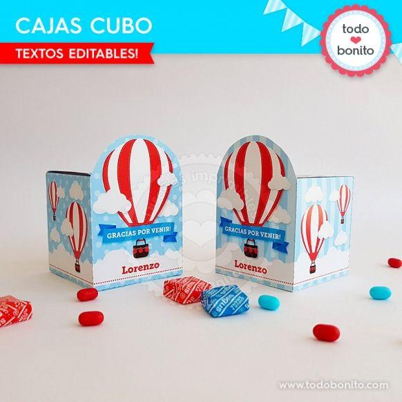 Cajas Cubo de globos aerostáticos