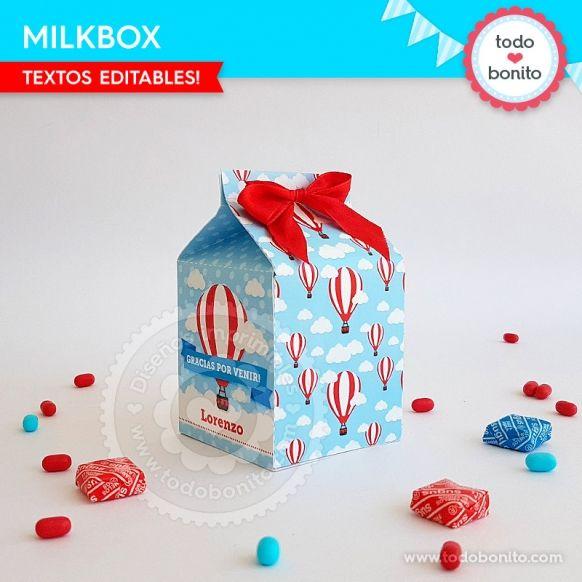 Milkbox de globos aerostáticos