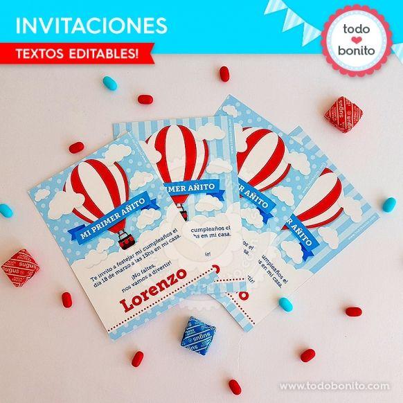 Invitaciones de globos aerostáticos