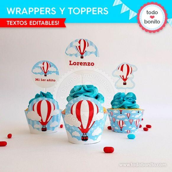 Wrappers y toppers globos aerostáticos