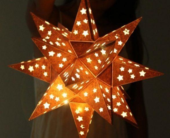 lámpara estrella brillante