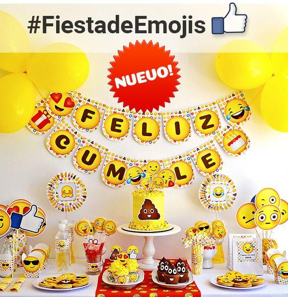 Decoraciones de fiesta de emojis for Decoracion infantil barata