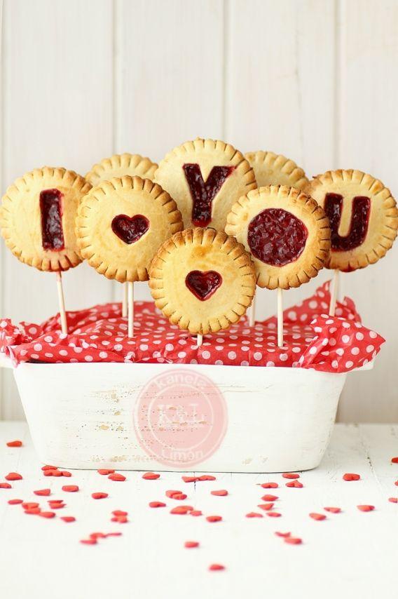 Originales galletas de san Valentín