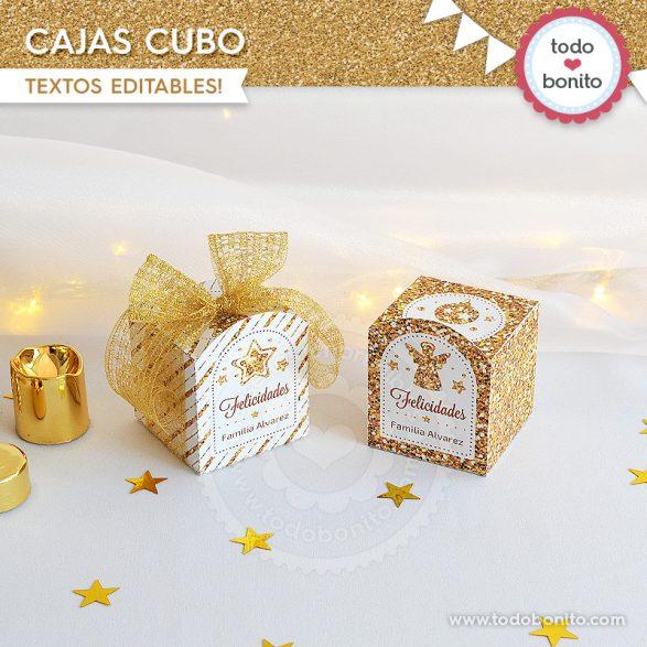 Caja cubo de navidad