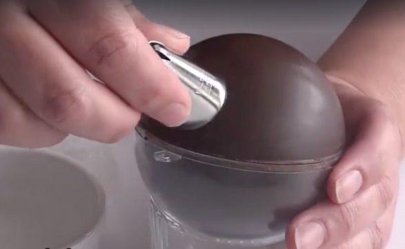 Bola de chocolate de Navidad