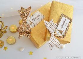 Navidad glitter dorado