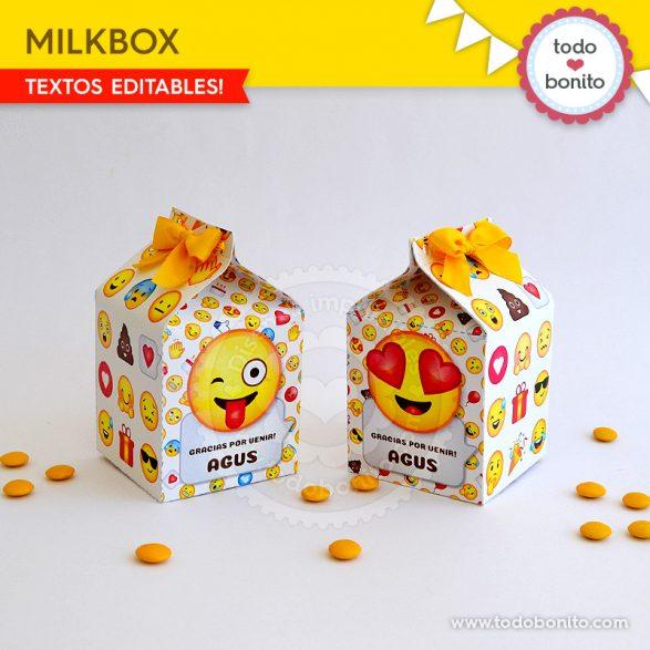 Cajas para imprimir con Emojis