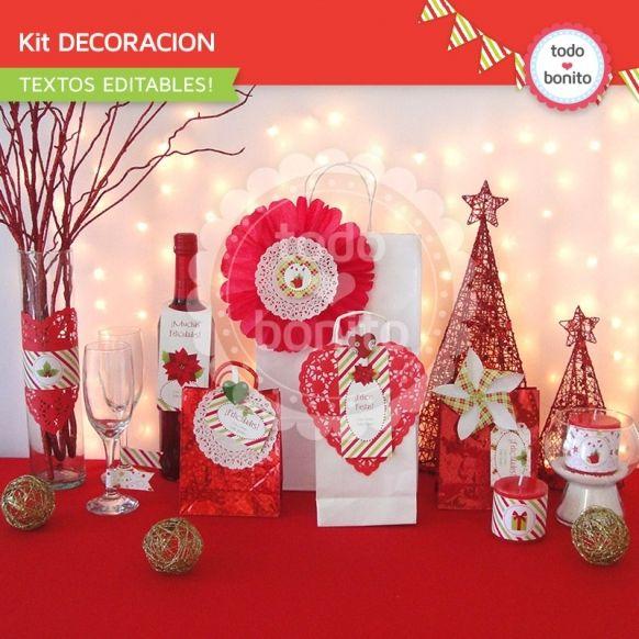 navidad-verde-y-rojo-kit-decoracion-imprimible-1