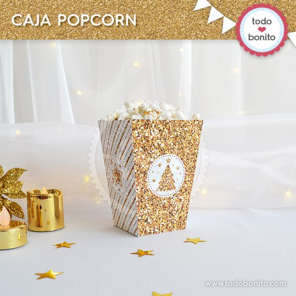 Caja popcorn de navidad