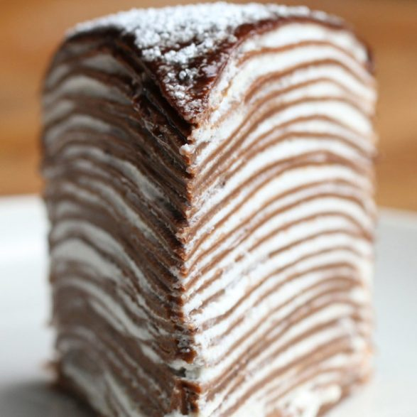 Torta de chocolate Crepe