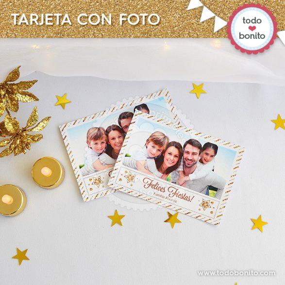 Tarjeta con foto de navidad