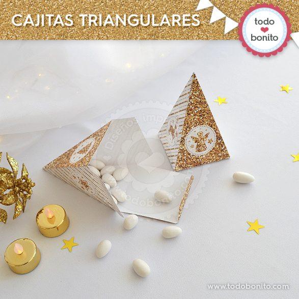 Cajitas triangulares de navidad