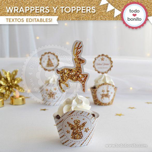 Wrappers y Toppers de lo nuevo navidad