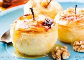 deliciosas manzanas rellenas