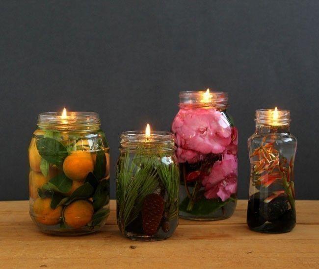Lámparas aromáticas caseras