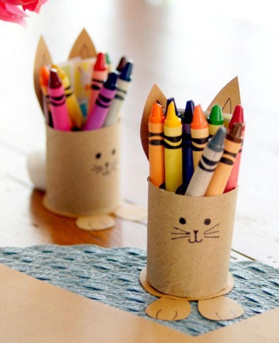Porta crayones de conejitos