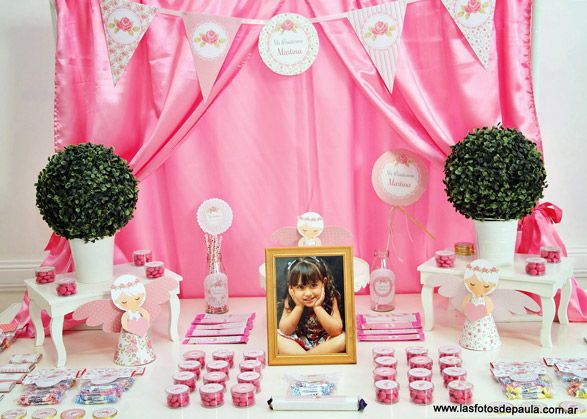Mesa dulce shabby chic rosa