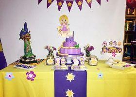 Decoración de Rapunzel para Oli