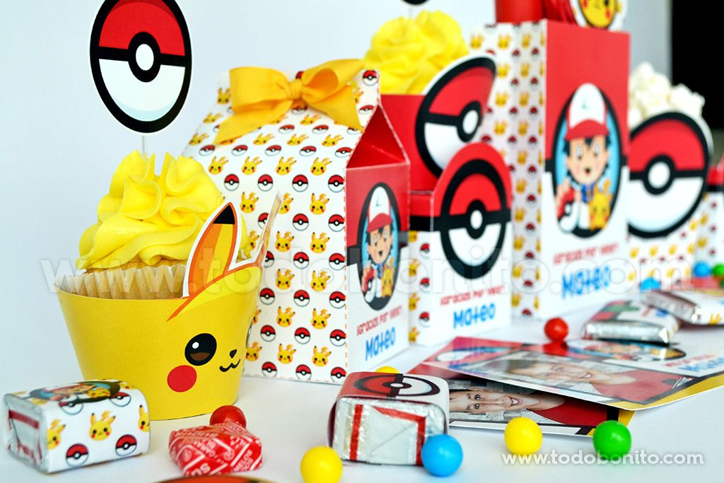 Decoraciones Pokemon para imprimir