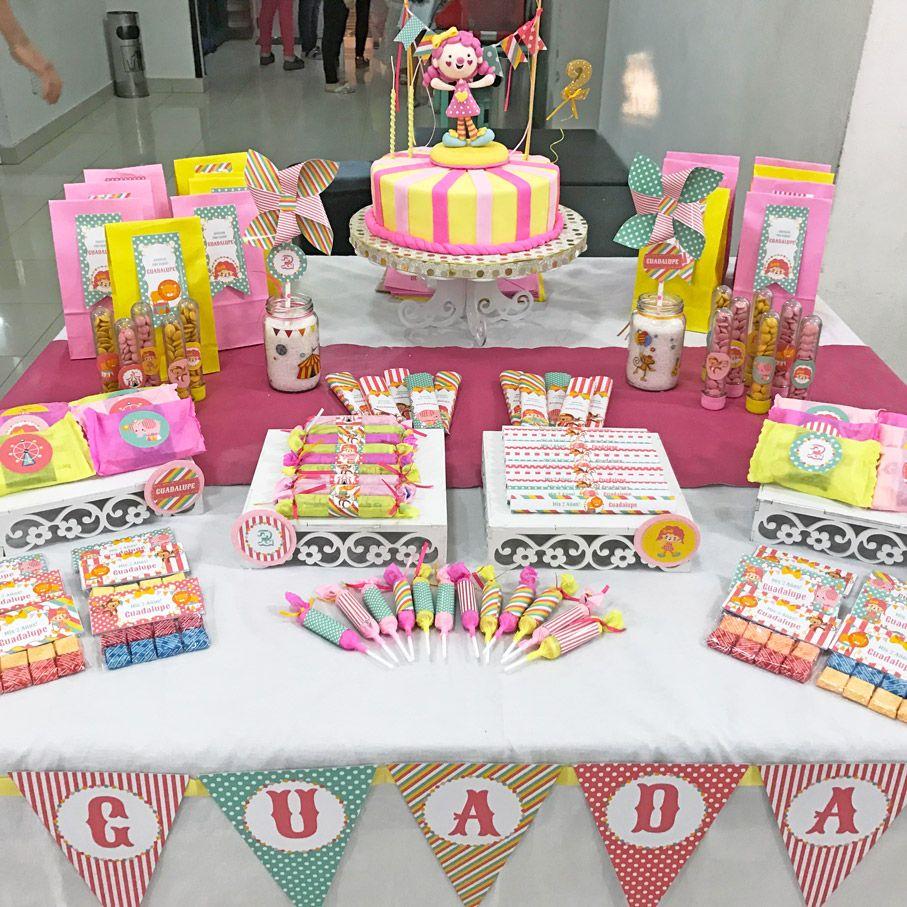 Kits imprimibles de Circo para niñas
