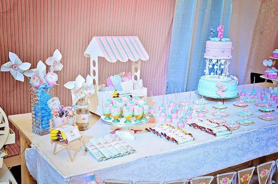 El hermoso cumpleaños Shabby Chic de Emilia