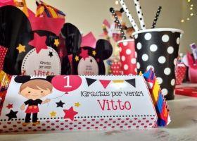 Mickey visitó el cumpleaños de Vitto