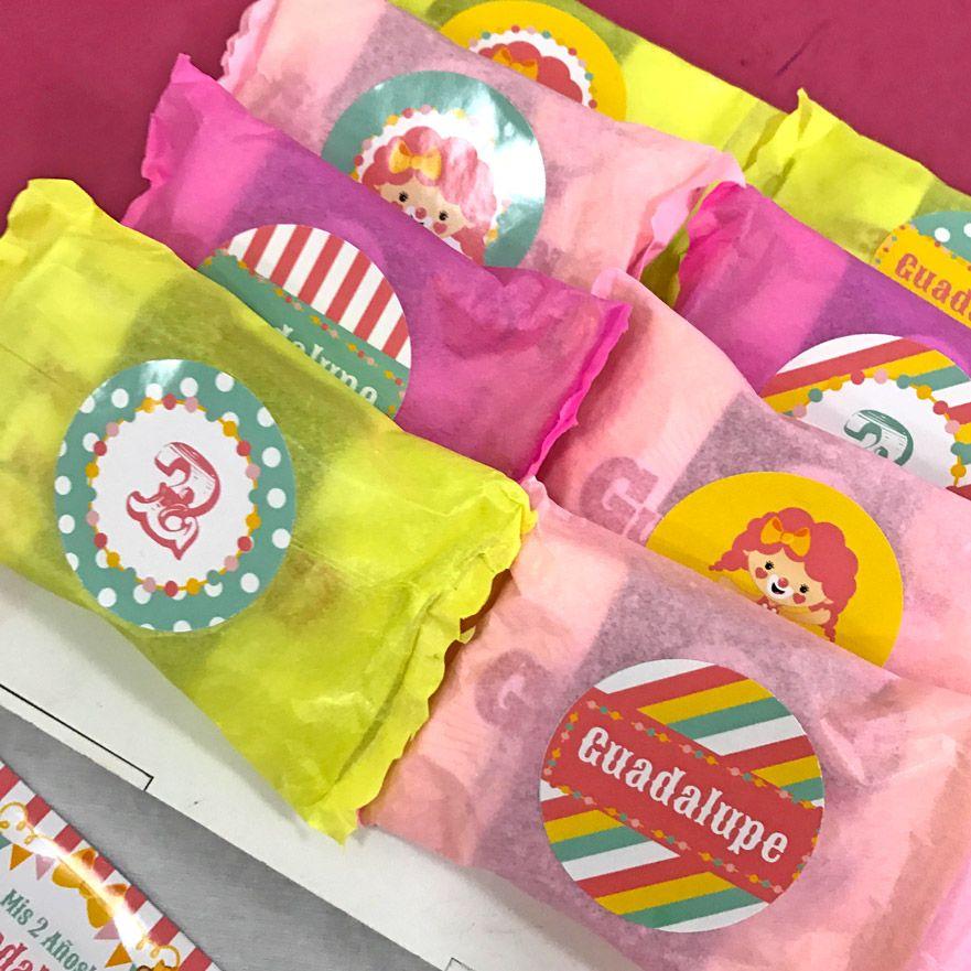 Etiquetas de golosinas imprimibles Circo niñas