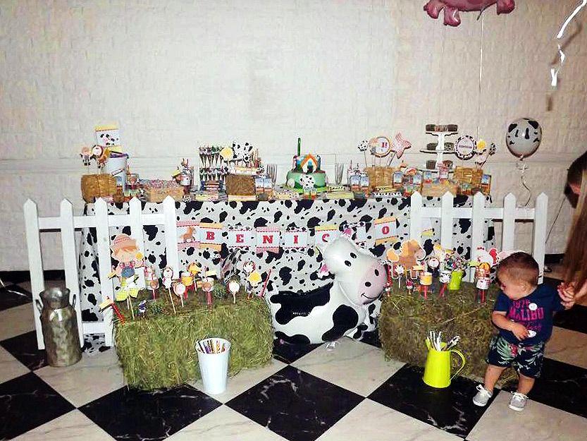 Mesa dulce animalitos de la granja
