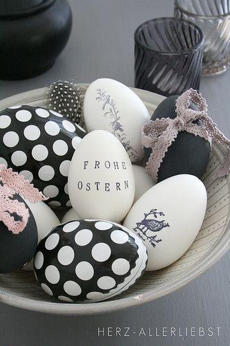 Huevitos de Pascua decorados