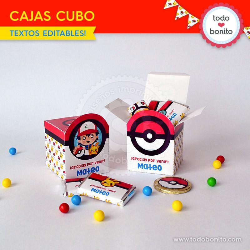 Cajas Pokemon imprimible