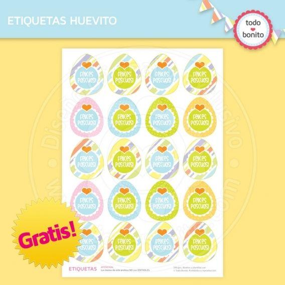 Etiquetas huevito del kit imprimible de pascuas