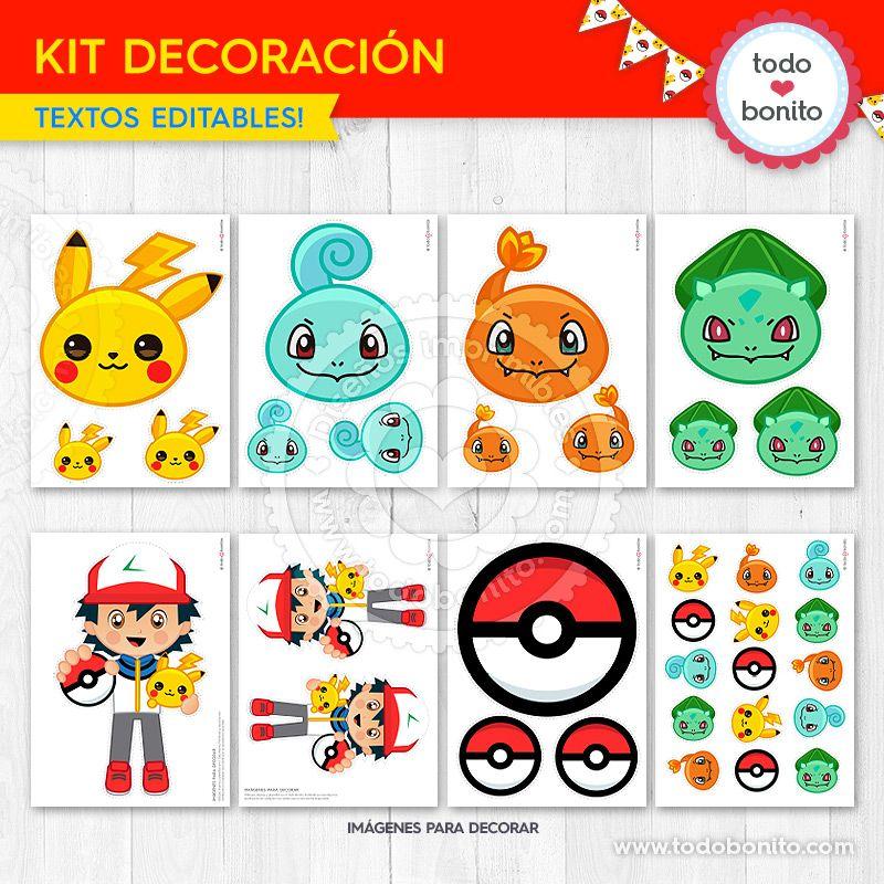 Decoración Pokémon para imprimir