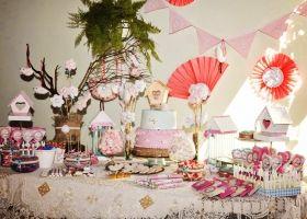 Pajaritos rosa para Justina con los kits imprimibles de Todo Bonito
