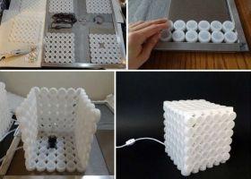 Cómo hacer una lámpara ¡con tapitas!