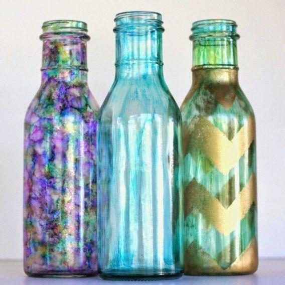 Hermosas botellas recicladas