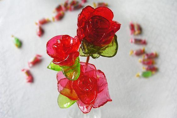 Ingeniosos caramelos de rosas