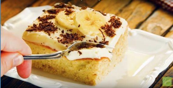 Torta de banana fácil y nutritiva