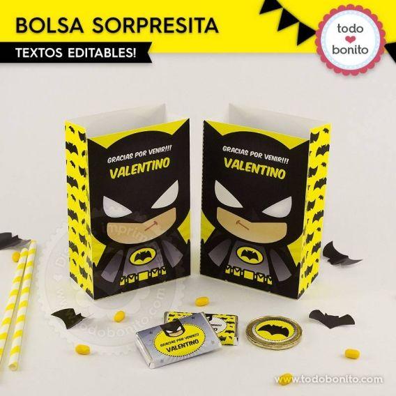 Bolsa sorpresita imprimible de Batman por Todo Bonito