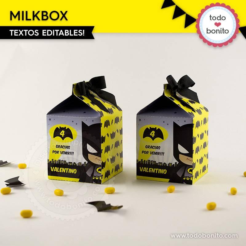 Milkbox del imprimible de Batman