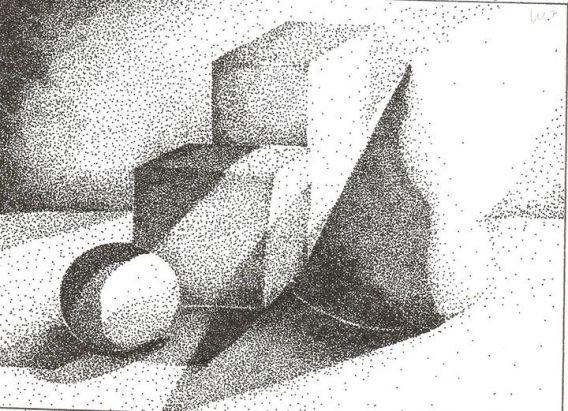 puntos en blanco y negros