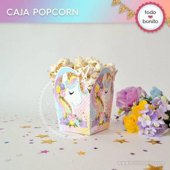 Cajas PopCorn de Unicornios por Todo Bonito