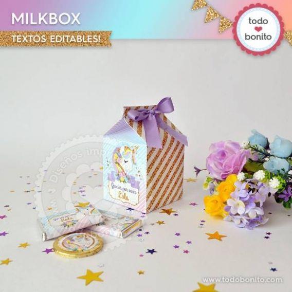 Cajas MilkBox de Unicornios por Todo Bonito