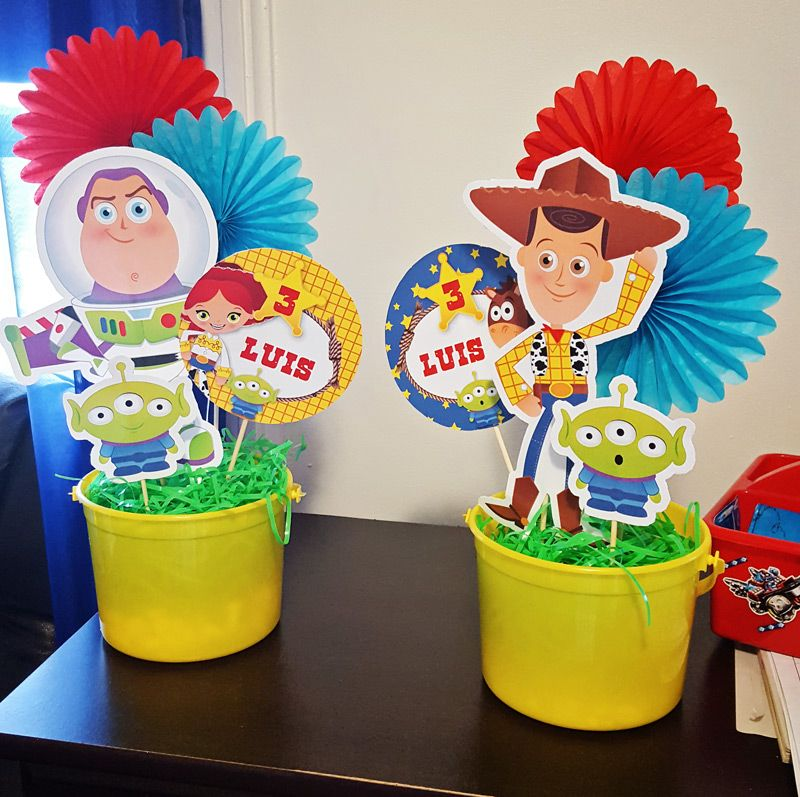 Centros de mesa Toy Story
