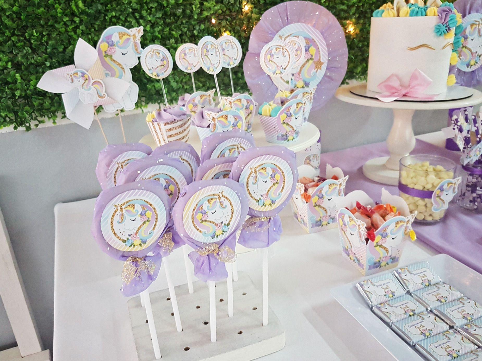 Candy bar unicornios