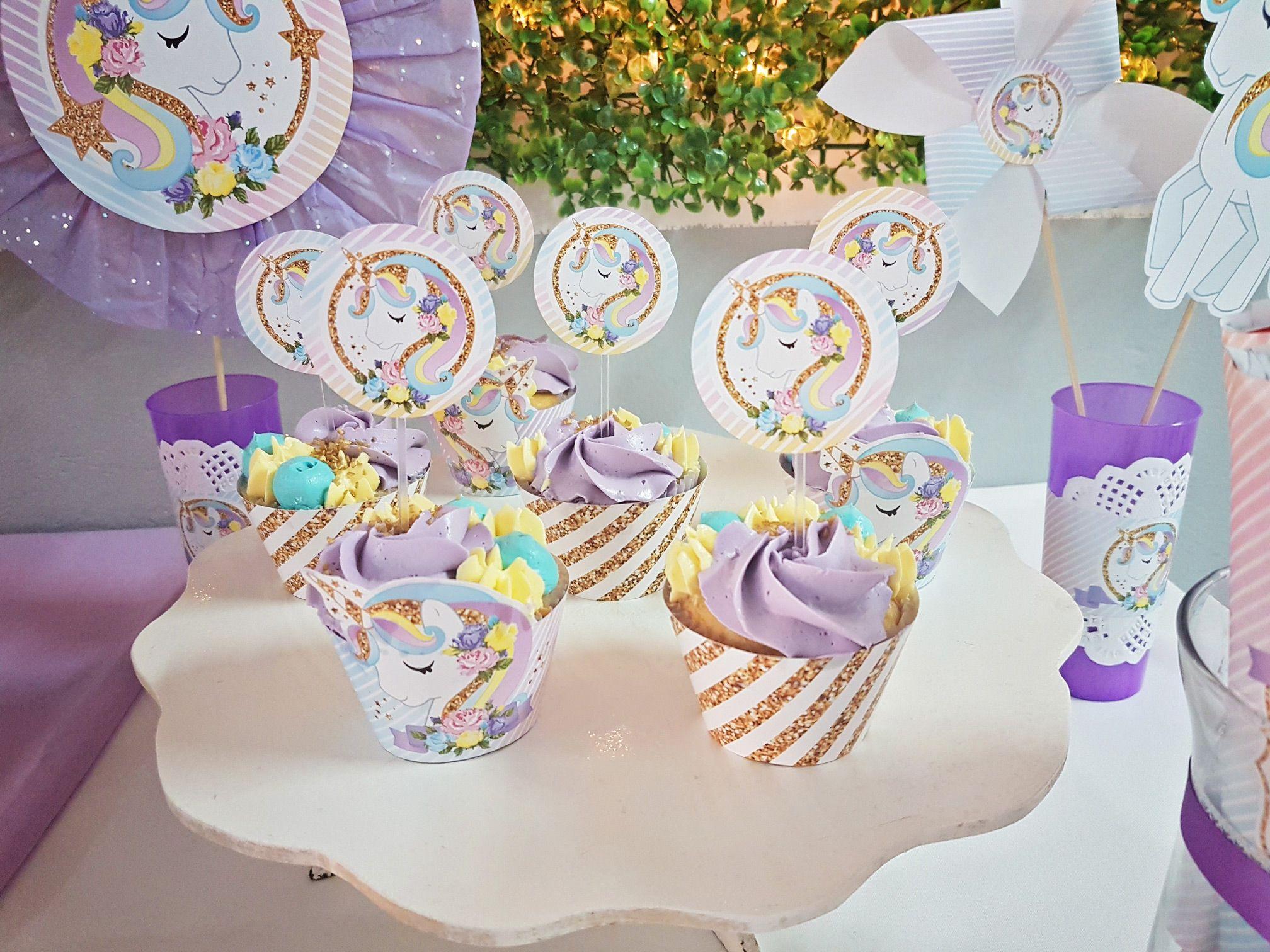 Cupcakes unicornios