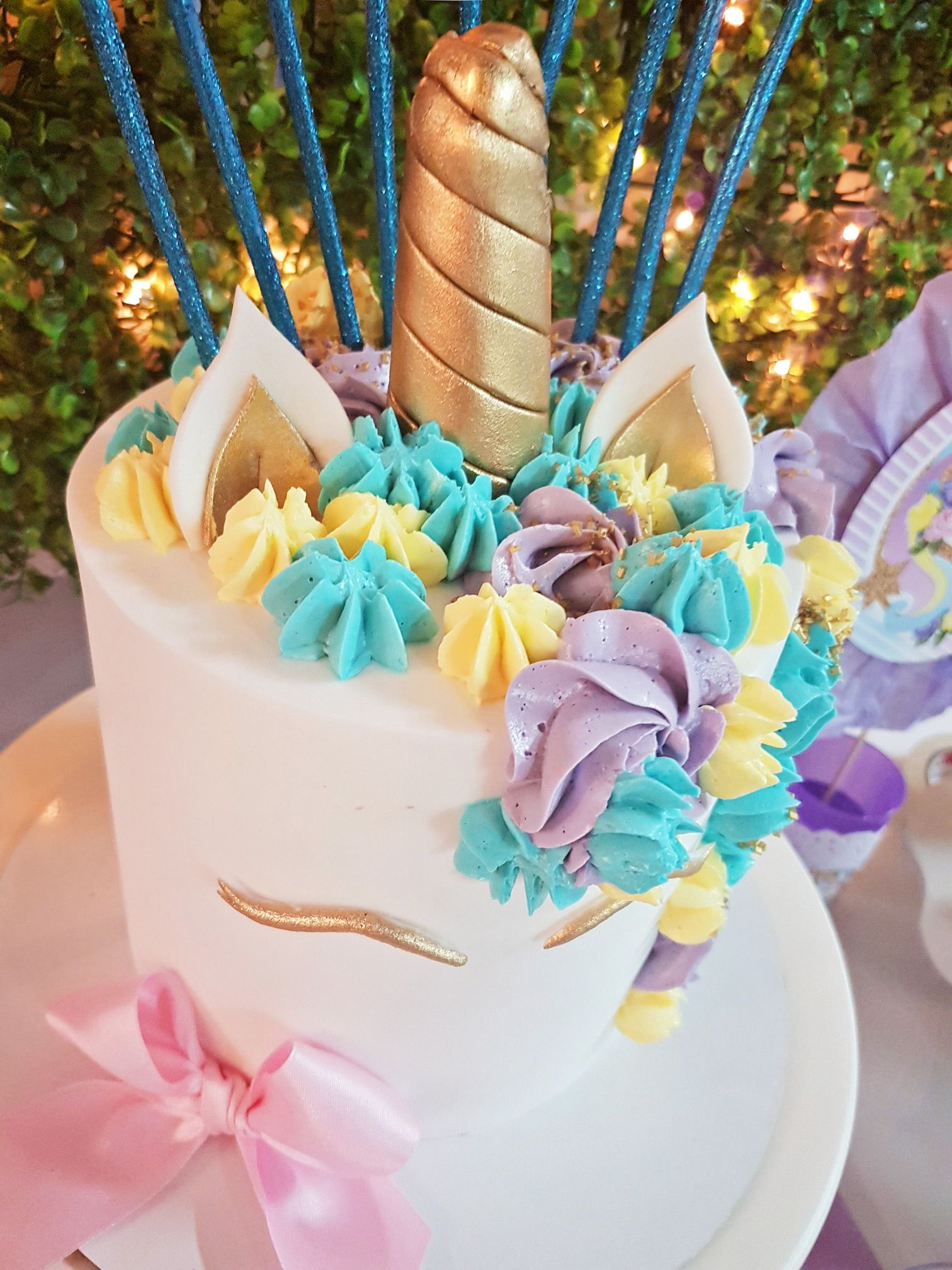 Torta cumpleaños de Unicornios