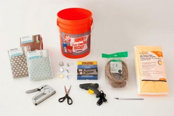 Ingenioso paso a paso de puff reciclado